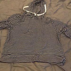 Hollister Tops - Hollister Striped Hoodie Shirt